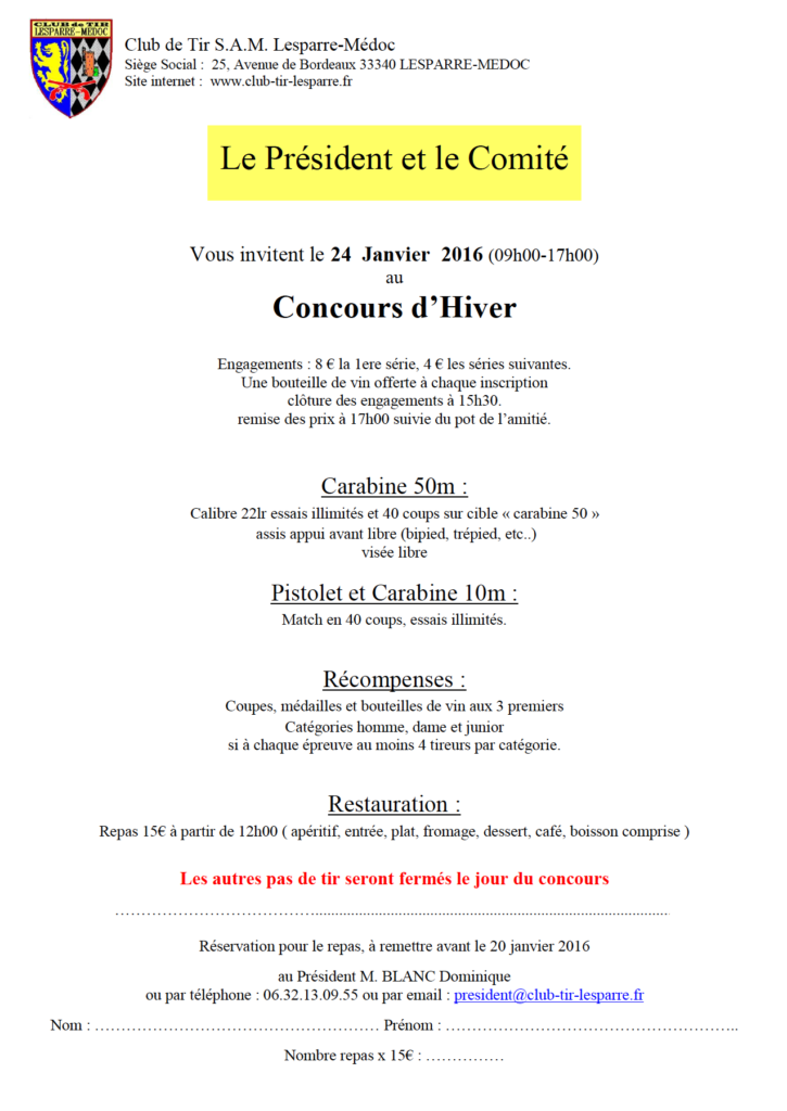 Concours hiver 16
