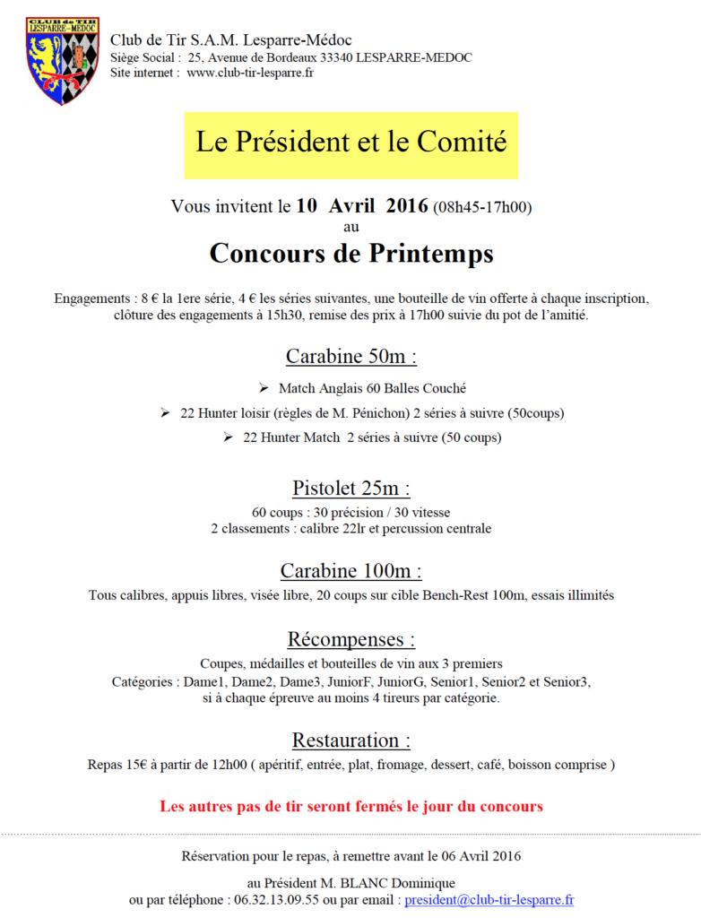 Concours Lesparre 10.04.16